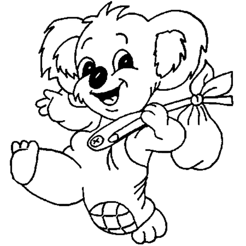 Coloriage Bebe Koala En Ligne Gratuit A Imprimer