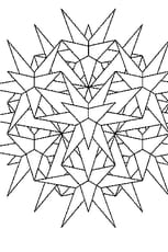 Coloriage Mandala Cristaux