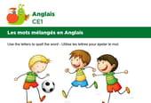 Les mots mélangés en Anglais, exercice 8