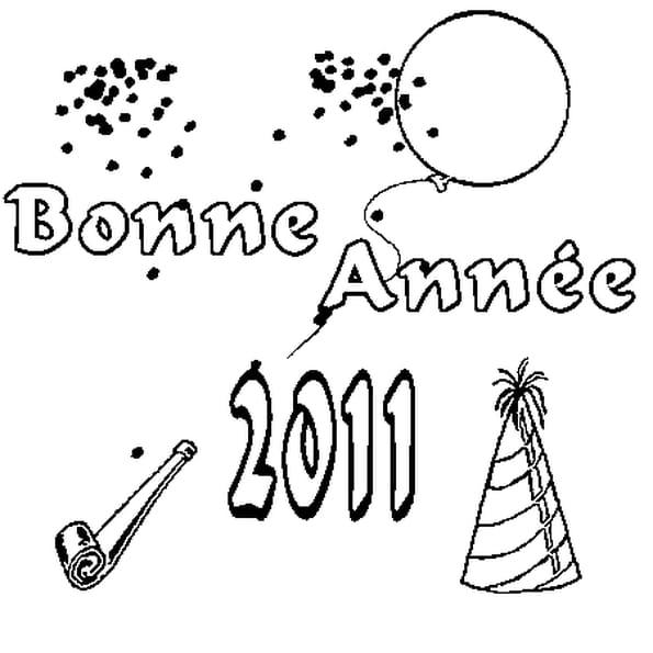 Coloriage 2011 en Ligne Gratuit à imprimer