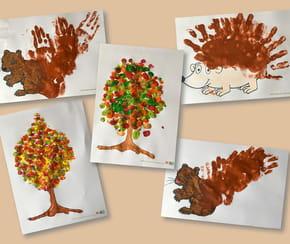 Créez des peintures d'automne avec les mains