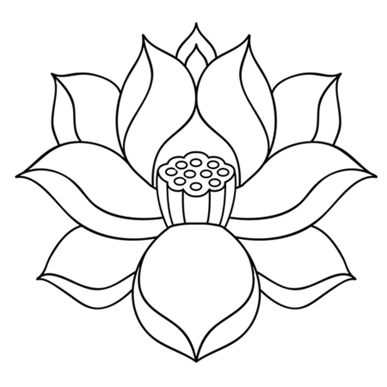 Coloriage Fleur De Lotus Zen En Ligne Gratuit à Imprimer