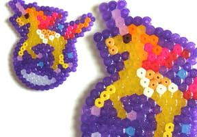 Perles à repasser cheval ou licorne