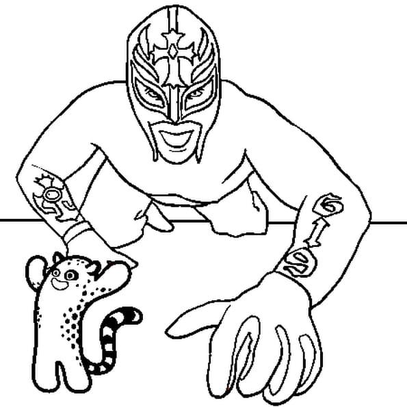 Dessin Rey Mysterio a colorier