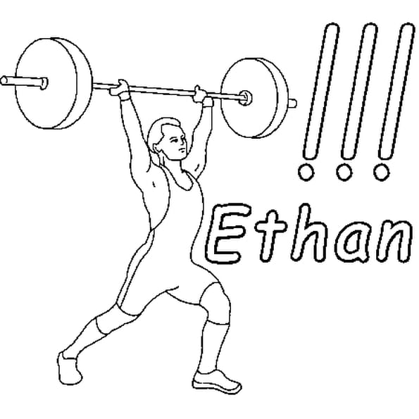 Coloriage Ethan en Ligne Gratuit à imprimer