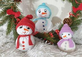 Bonhomme de neige chaussettes