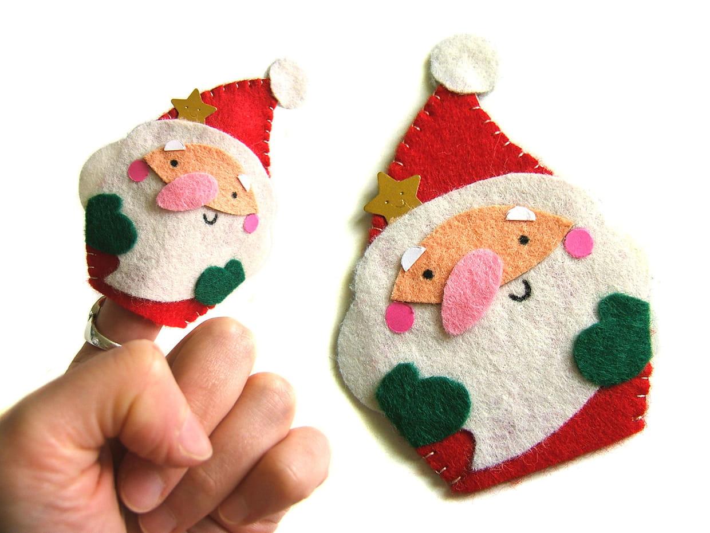 Fabriquer Deco Noel En Feutrine marionnette de doigts, le père noël