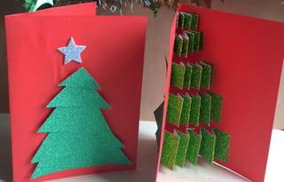 Carte de Noël sapin Étape 1
