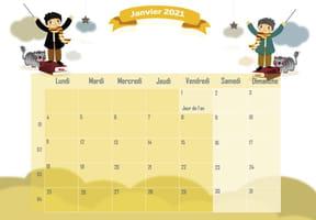 L'école des Sorciers: calendrier2021