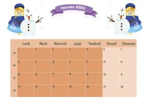La Reine des glaces: calendrier2021
