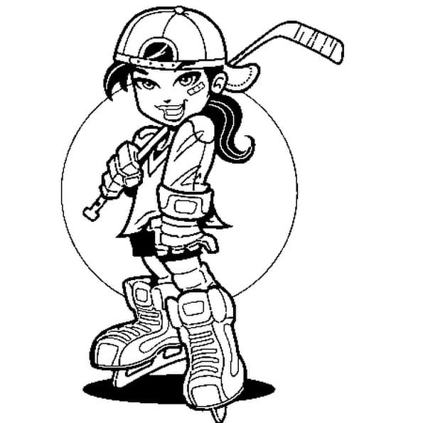 Coloriage hockey en ligne gratuit imprimer - Dessin patinoire ...
