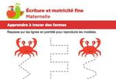 Motricité fine Maternelle, les crabes