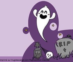 Papier à lettres petit fantôme pour Halloween