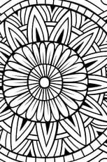 Coloriage Rosace mandala en Ligne Gratuit à imprimer