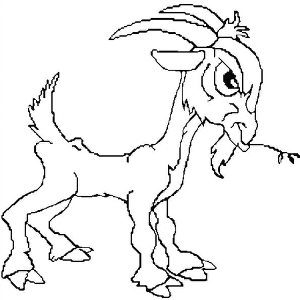 Dessin chèvre a colorier