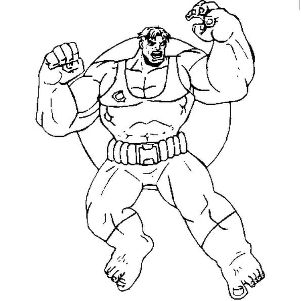 dessin hulk a colorier