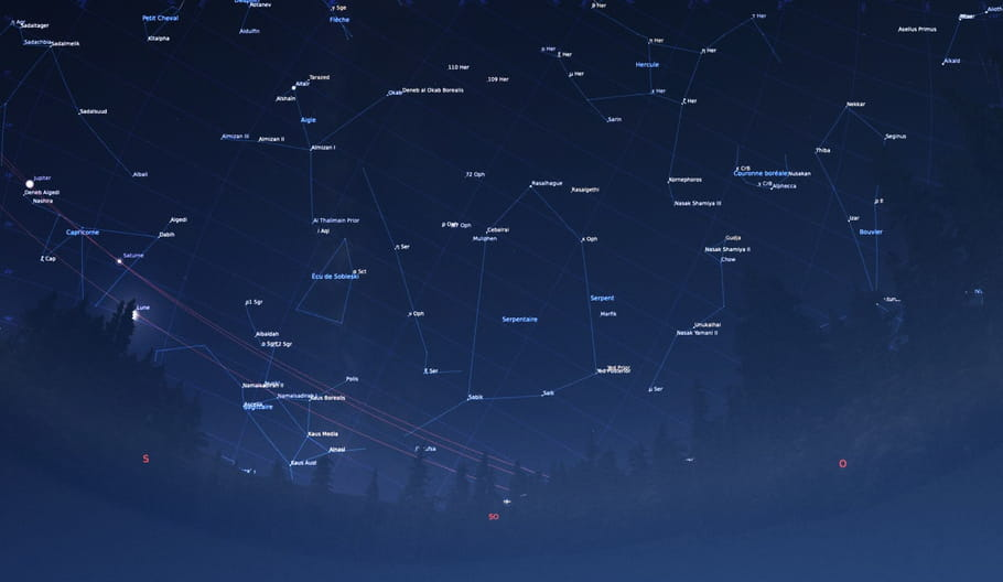 Constellations: la carte du ciel à imprimer
