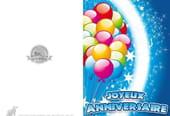 Carte joyeux anniversaire ballons