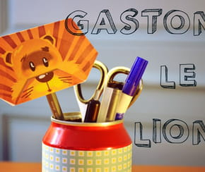 Pliage Gaston le lion