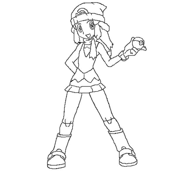 Dessin aurore Pokémon a colorier