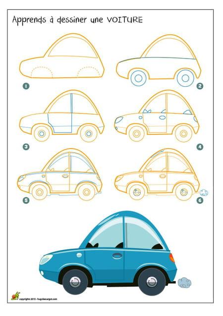 Dessiner une voiture - Dessiner une voiture facile ...