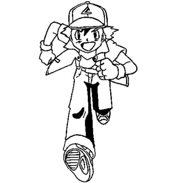 Dessin Sacha Pokémon a colorier