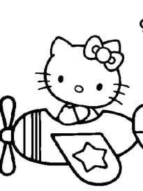 Hello Kitty dans l'avion