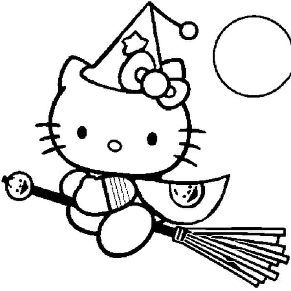 Coloriage Hello Kitty Fee En Ligne Gratuit A Imprimer