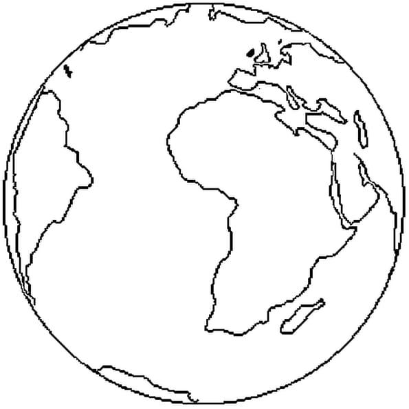 Coloriage Terre en Ligne Gratuit à imprimer