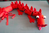 Le dragon rouge chinois