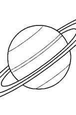 Coloriage Saturne