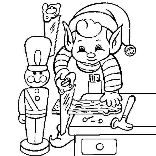 Coloriage Atelier Noël en Ligne Gratuit à imprimer