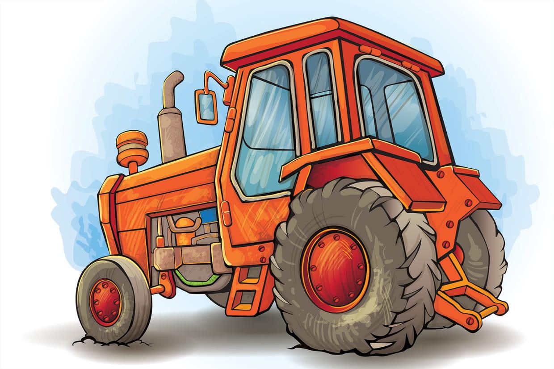 Coloriage tracteur sur - Dessin a imprimer de tracteur ...
