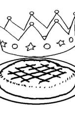 Coloriage galette des rois en Ligne Gratuit à imprimer