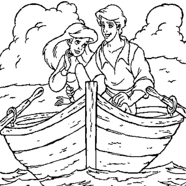 Dessin Barque a colorier