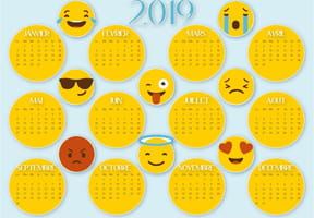 Calendrier 2019 smiley