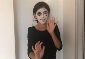 Maquillage mime pour Halloween [VIDEO]