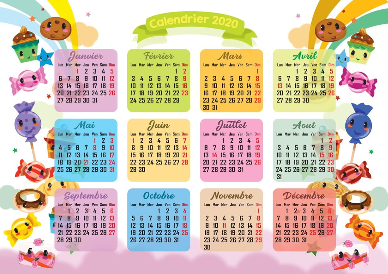 Kawaii : calendrier 2020