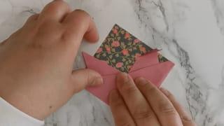 Marque-page cochon en origami