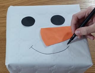 Étapes 2: Créez le visage du bonhomme de neige