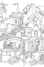Coloriage Cache-Cache Playmobil château fort
