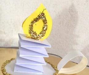 Bougies de Noël en papier [VIDEO]