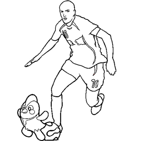 Dessin Zidane a colorier
