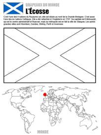 Coloriage monde drapeau Ecosse