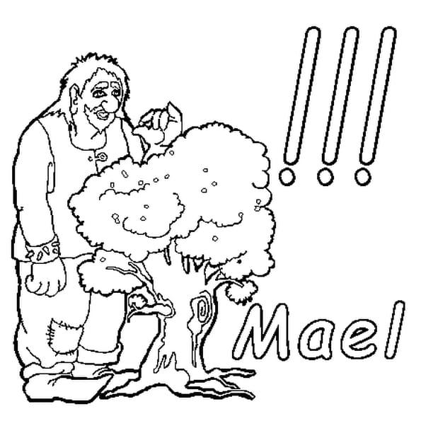 Dessin Mael a colorier