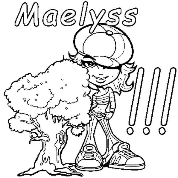 Dessin Maelyss a colorier