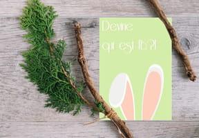 Carte de Pâques oreilles de lapin