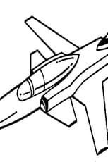 Coloriage avion de guerre simple en Ligne Gratuit à imprimer