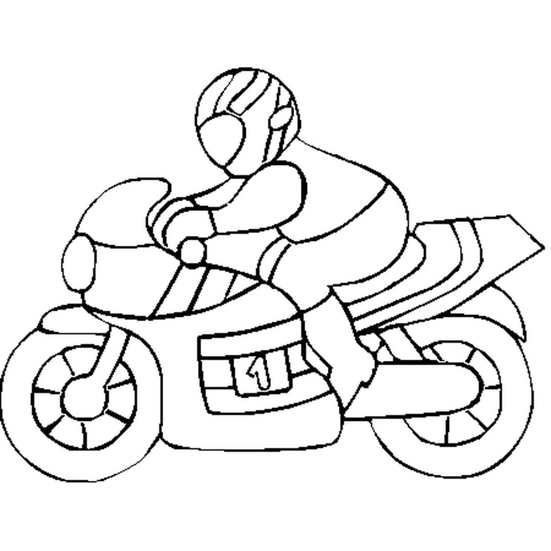 Coloriage De Moto En Ligne Gratuit à Imprimer