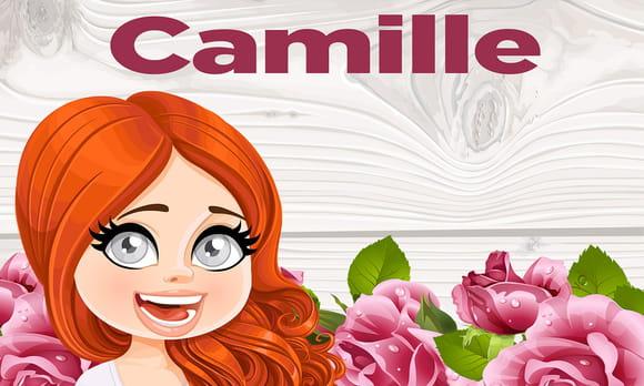 Coloriage camille pr nom de fille lettre c sur - Camille dessin ...